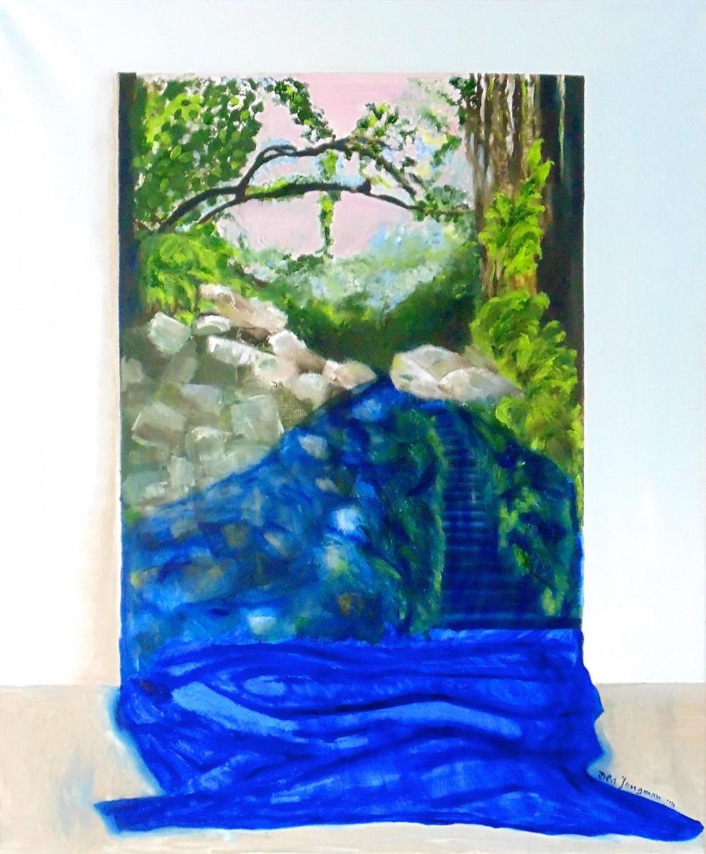 rob-de-jong_arts-orthomanuele-geneeskunde schilderij brug water